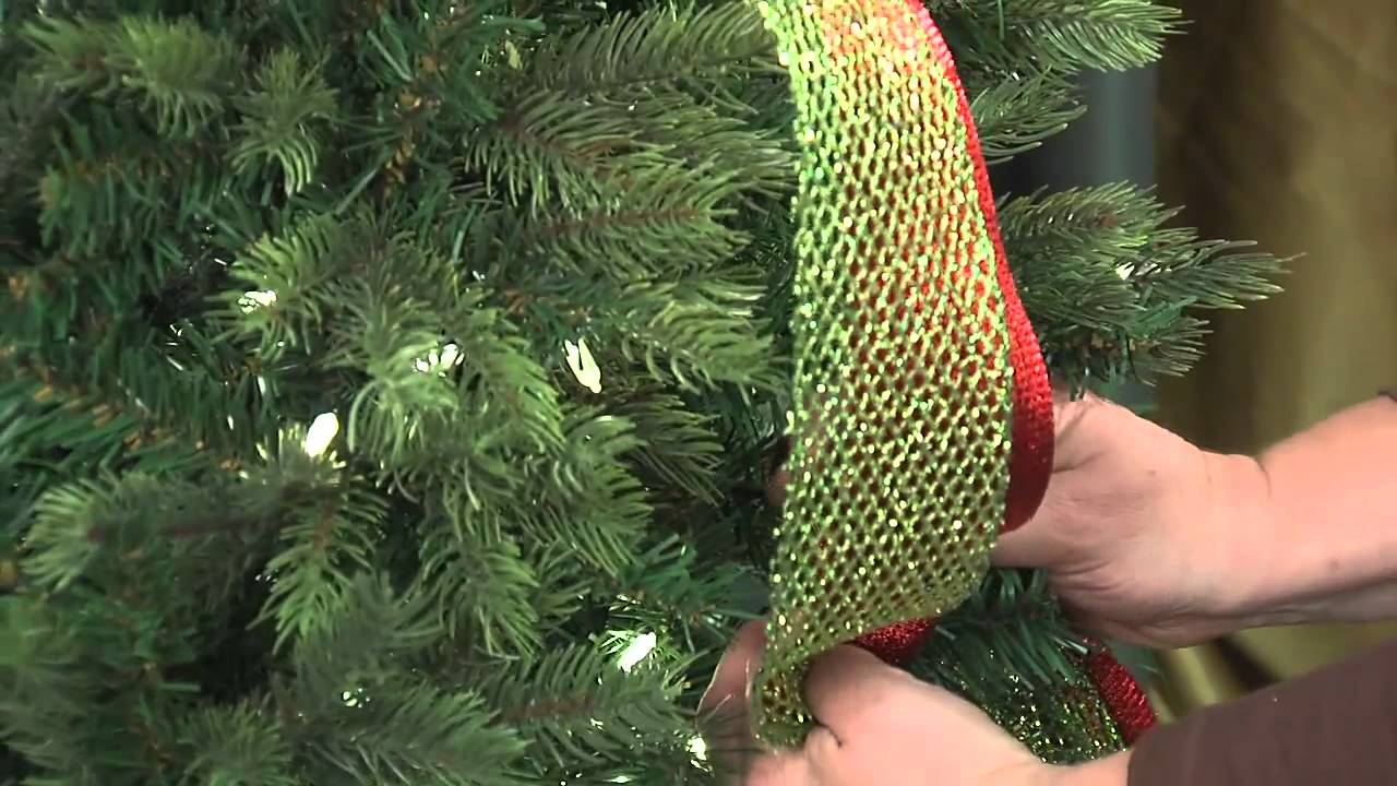 christmas time at the pool place ribbons youtube - How To Decorate A Christmas Tree With Ribbon Video