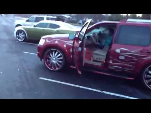 """Car Paint Job >> Sick 2008 Ford Explorer! Insane paint job, 150db+ stereo with 4 15""""s, air ride, 24""""s, etc. - YouTube"""