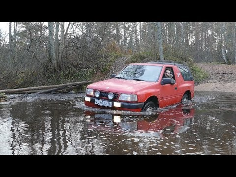 Смотреть Нива утонула, на очереди Opel Frontera! онлайн