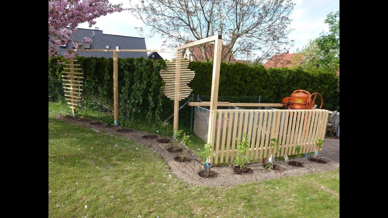 2 Teil Rankgitter Oder Rankhilfe Spalier Fur Den Garten Einfach