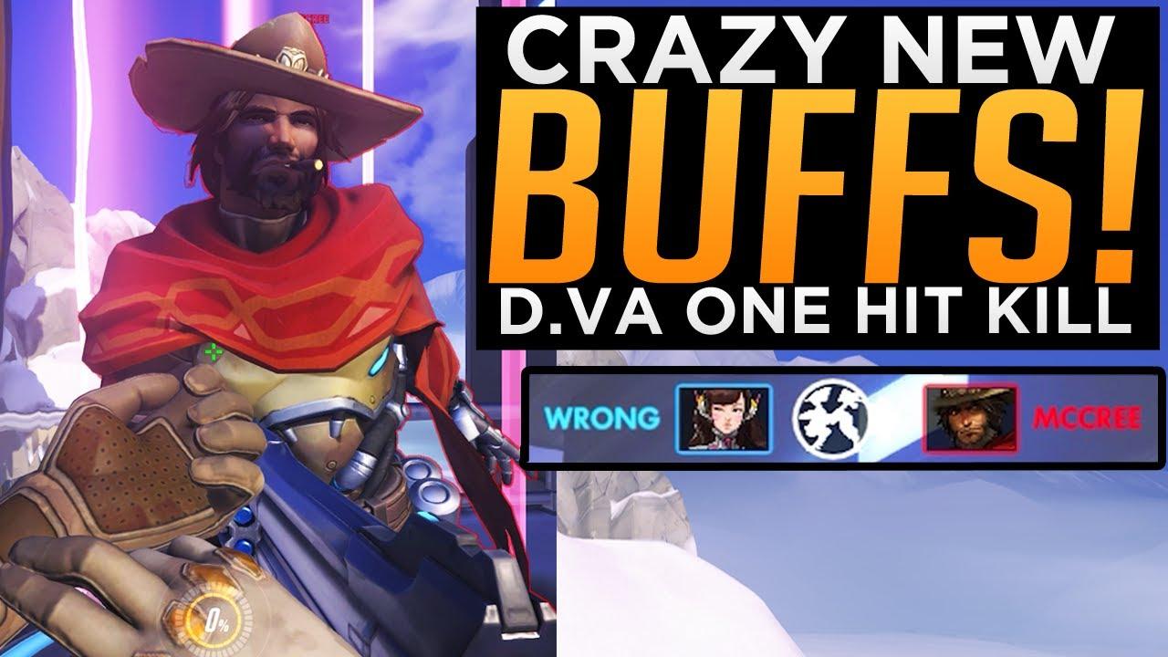 Overwatch: D.Va One Hit Kill! - Baptiste Heal Rework - Crazy BUFFS & NERFS!