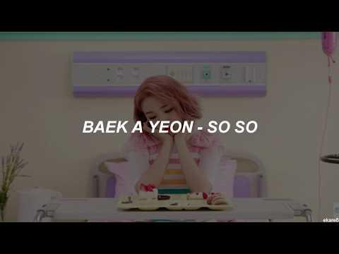 Baek A Yeon - So So // Sub. Español