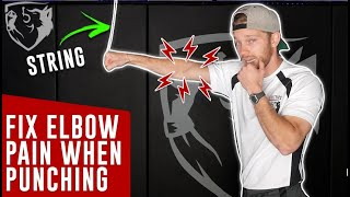 Use a String to Fix Elbow Pain when Punching