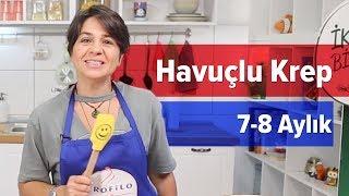 Kahvaltı İçin Havuçlu Krep (8+ Ay) | Profilo ile Pişiriyoruz | İki Anne Bir Mutfak