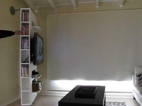 Mueble giratorio para lcd o plasma   youtube