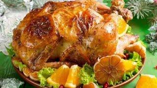 Учимся готовить Новогоднюю курицу фаршированную апельсинами
