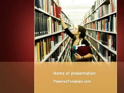 Free bookshelves of library powerpoint template by poweredtemplate free bookshelves of library powerpoint template by poweredtemplate toneelgroepblik Image collections