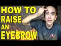 HOW TO RAISE AN EYEBROW