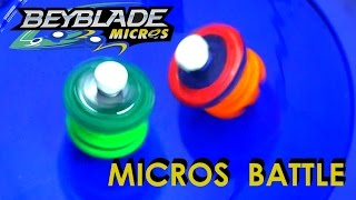Beyblade Burst by Hasbro Micros - Horusood vs Kerbeus Battle