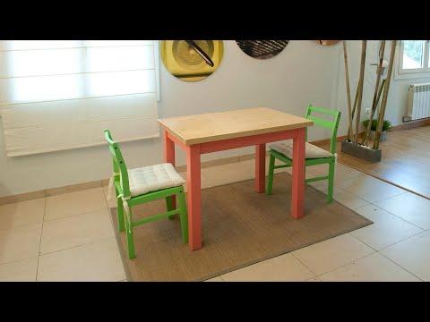 Bricoman a construcci n de mesa b sica youtube for Cocinas chiquitas