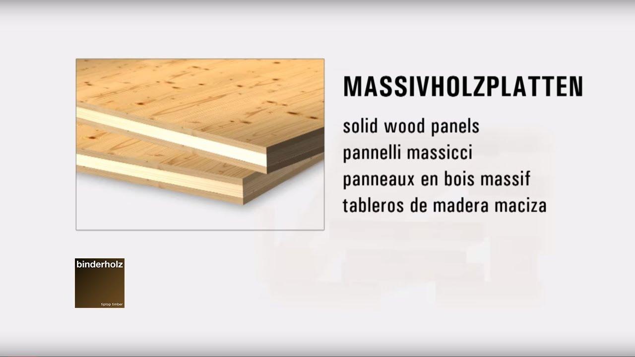 binderholz solid wood panels - Binderholz Solid Wood Panels - YouTube