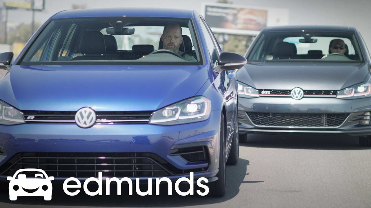 what 39 s the difference between a vw gti and golf r edmunds youtube. Black Bedroom Furniture Sets. Home Design Ideas