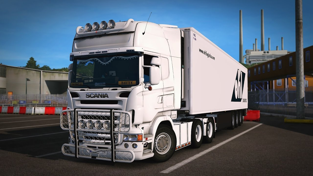 ets2   scania v8 straight pipe sound   youtube