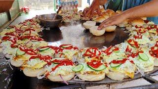 Super Fast Cooking Skills | Egg Anda Bun Kabab at Street Food of Karachi Pakistan