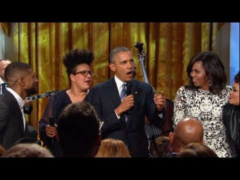 Watch President Obama speak -- and sing -- at White House tribute to Ray Charles