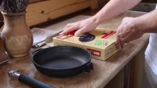 Как подготовить чугунную сковороду к эксплуатации(Как обжечь чугунную сковороду и подготовить ее к эксплуатации, создав естественное антипригарное покрытие., 2016-09-18T16:33:22.000Z)