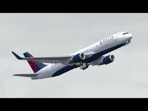 FSX HD Level-D 767 DELTA 1151 San Francisco to Honolulu, Hawaii Full Flight  Passenger Wing View