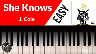"""She Knows"" - J. Cole Piano Tutorial"