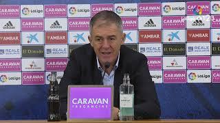Rueda de prensa de Lucas Alcaraz tras el Real Zaragoza vs RCD Mallorca (2-2)