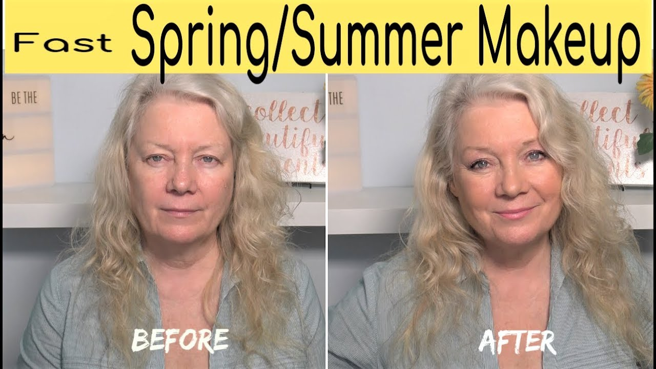 12 Minute Spring & Summer Natural Look Makeup, Beauty Tips/ mature over 120  Women