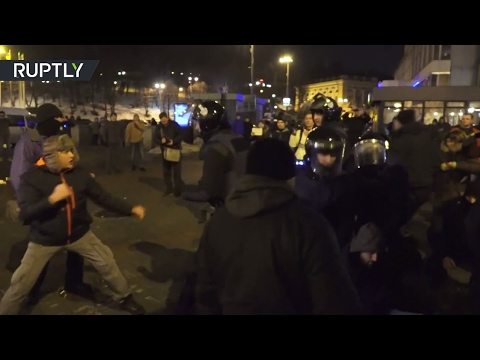 Three years after Maidan: Protesters scuffle with police during anniversary rally in Kiev