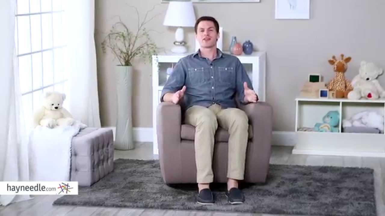 dutailier mocha upholstered swivel glider  product review video  - dutailier mocha upholstered swivel glider  product review video