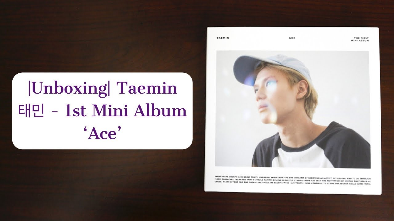 |Unboxing| Taemin 태민 - 1st Mini Album 'Ace' (White Version)