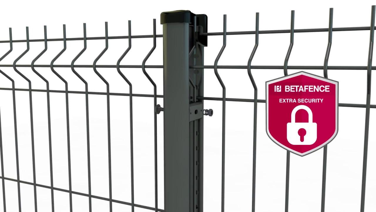 Modernistyczne Betafence - montaż paneli ogrodzeniowych Nylofor na słupach KV44