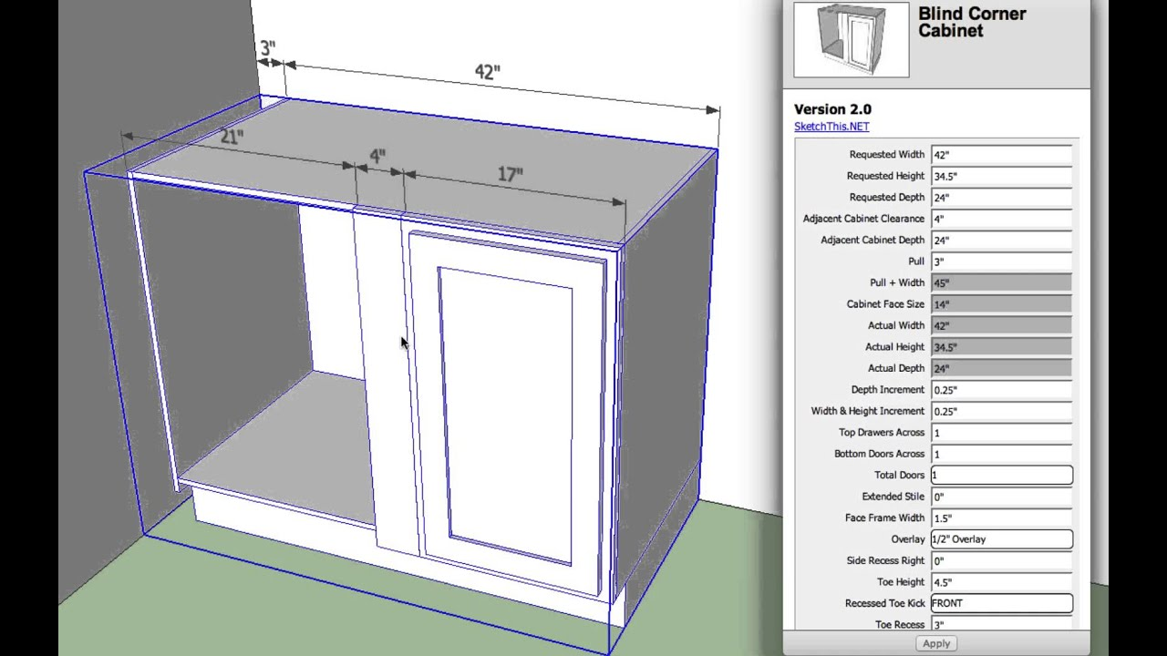 SketchThis Net Releases a Kitchen Plugin for SketchUp
