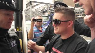 Tommy Robinson & Kevin Carroll of the EDL assaulted then arrested during charity walk to Woolwich