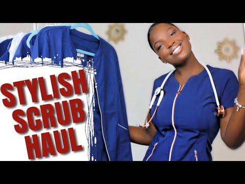 ULTIMATE STYLISH SCRUB HAUL/ REVIEW 🐝The Best MODERN, Professional, &Fashionable Scrubs UPDATE 2019