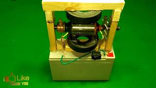 How to make Electric Motor Mini science project using dc motor with magnets