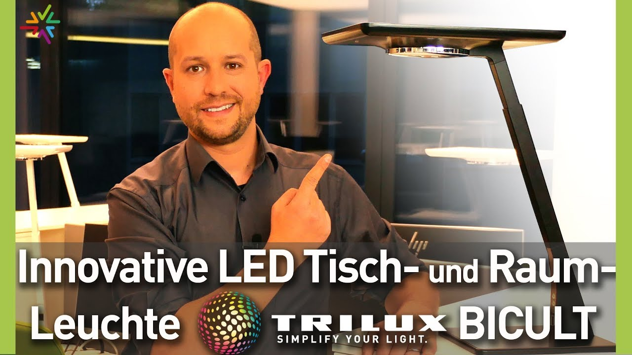 TRILUX LED Tisch- und Raumleuchte BICULT Produktvideo Review
