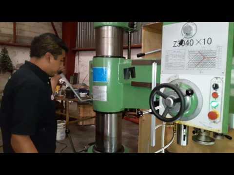 Introducción y funcionamiento de Taladro Radial Kenta modelo: Z-3040x10