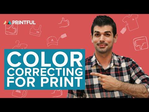 Color Correcting For Print: Printful Print-On-Demand