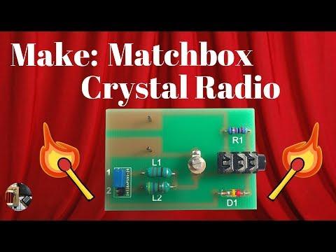 Make: DIY Matchbox Crystal Radio Kit Build and Review