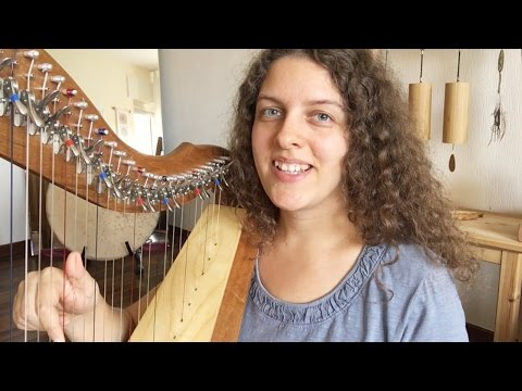 Your Very Gentle Harp Lesson #1 - Basic Hand Position and Posture (ASMR soft spoken)