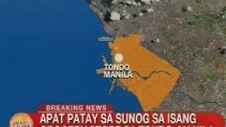 UB: 4 patay sa sunog sa isang grocery store sa Tondo, Manila