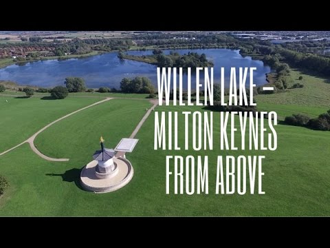 Willen Lake Milton Keynes From Above