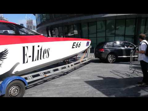 Venture Offshore Cup racing boats arriving in London for the Media Launch Part 1