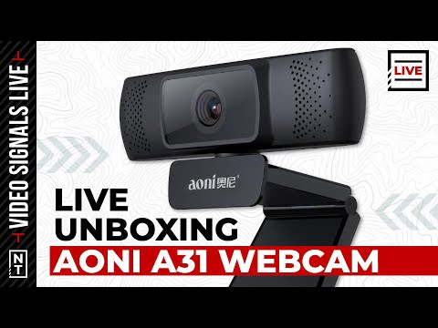 LIVE Unboxing: The aoni A31 Webcam and Neewer LED Light Panel Softbox