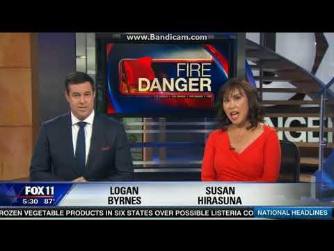 KTTV Fox 11 Weekend News open October 22, 2017