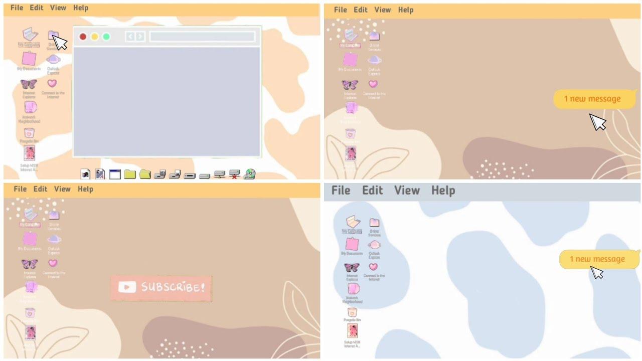 Download Free Cute Intro login Computer Template