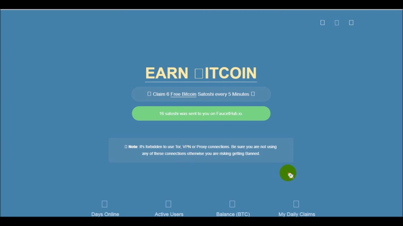 Bitcoin Faucet | Free Bitcoin every 5 min | 01 06 19