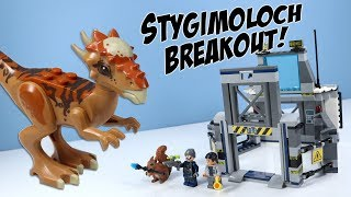 LEGO Jurassic World Fallen Kingdom Stygimoloch Breakout Speed Build 2018