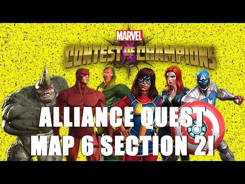 ALLIANCE QUEST MAP 6 SECTION 2 DAY 1! | Marvel Contest of Champions