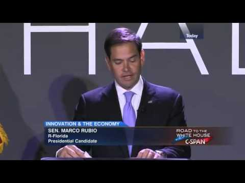 Senator Marco Rubio on Innovation and the Economy