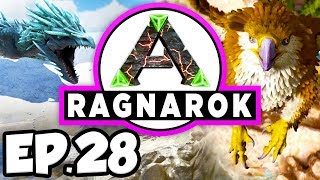 ARK: Ragnarok Ep.28 - TRIBESMEN RESCUE MISSION, DINOSAURS ATTACK RAFT!!! (Modded Dinosaurs Gameplay)