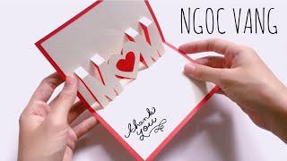 NGOC VANG ♡ MOM - Tự tay làm thiệp 3D chữ MOM tặng mẹ !