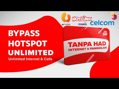 Bypass Hotspot Limit from Unlimited data plan - Malaysia Hotlink, Celcom,  Umobile - YouTube
